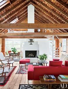 Modern home in historic barn