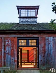 Cedar roof on converted barn renovation